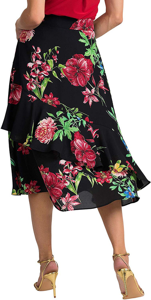 Joseph Ribkoff Womens Floral Skirt Style 201490 - a-dream-fit.myshopify.com