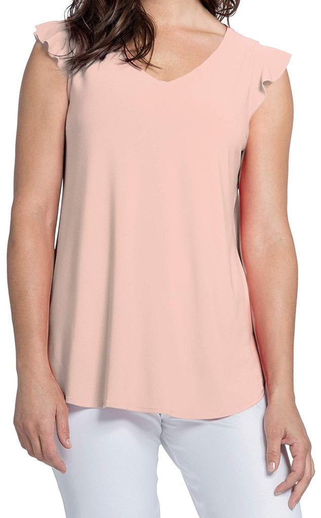 Sympli Womens Sleeveless Romance Top Style 21161 - a-dream-fit.myshopify.com