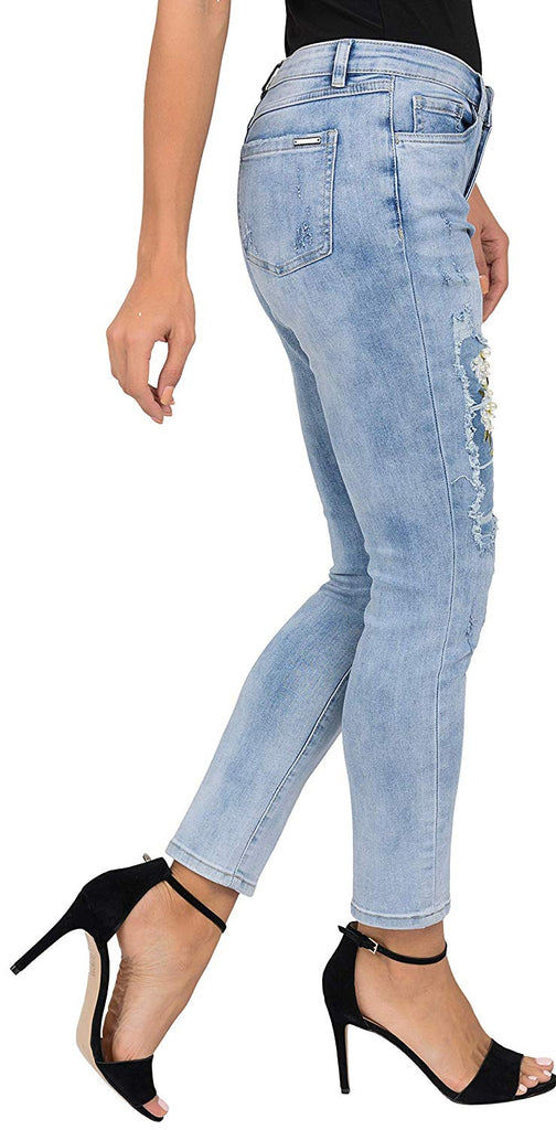 Joseph Ribkoff Womens Jeans Style 19298 Flower Patch