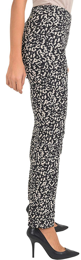 Joseph Ribkoff Womens Leopard Style Slim Fit Pants Style 193772 - a-dream-fit.myshopify.com