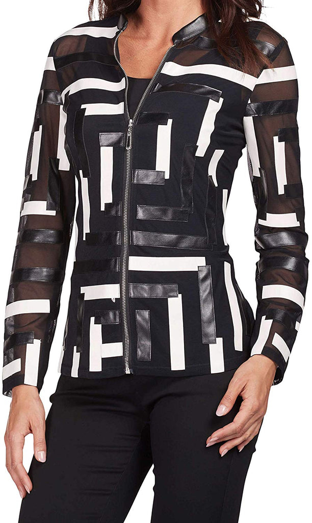 FRANK LYMAN Womens Geometric Jacket Style 186130U - a-dream-fit.myshopify.com