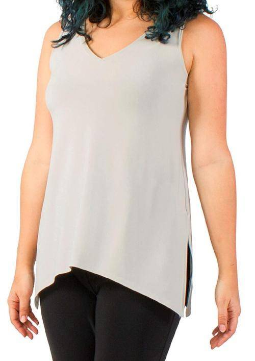 Sympli Womens Sleeveless Go to Wide Vneck, 5 Colors - a-dream-fit.myshopify.com