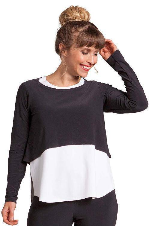 Sympli Womens Shorty Top Long Sleeves - A Dream Fit