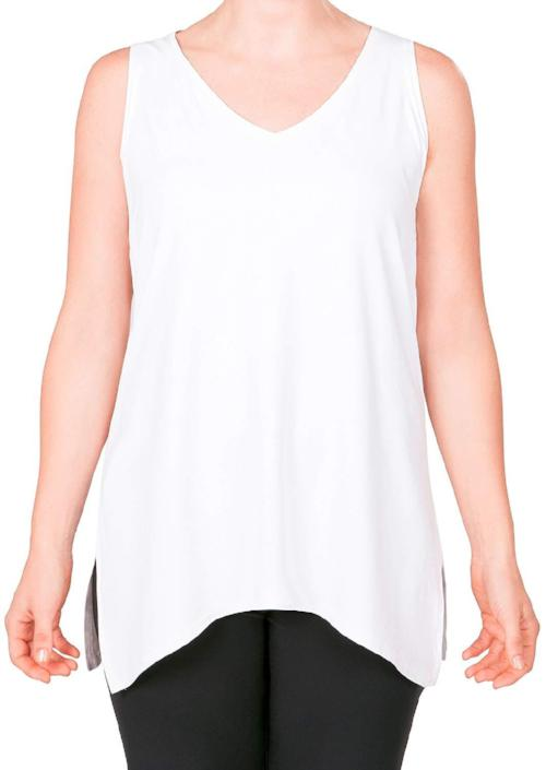 Sympli Womens Sleeveless Go to Wide Vneck | +COLORS - A Dream Fit