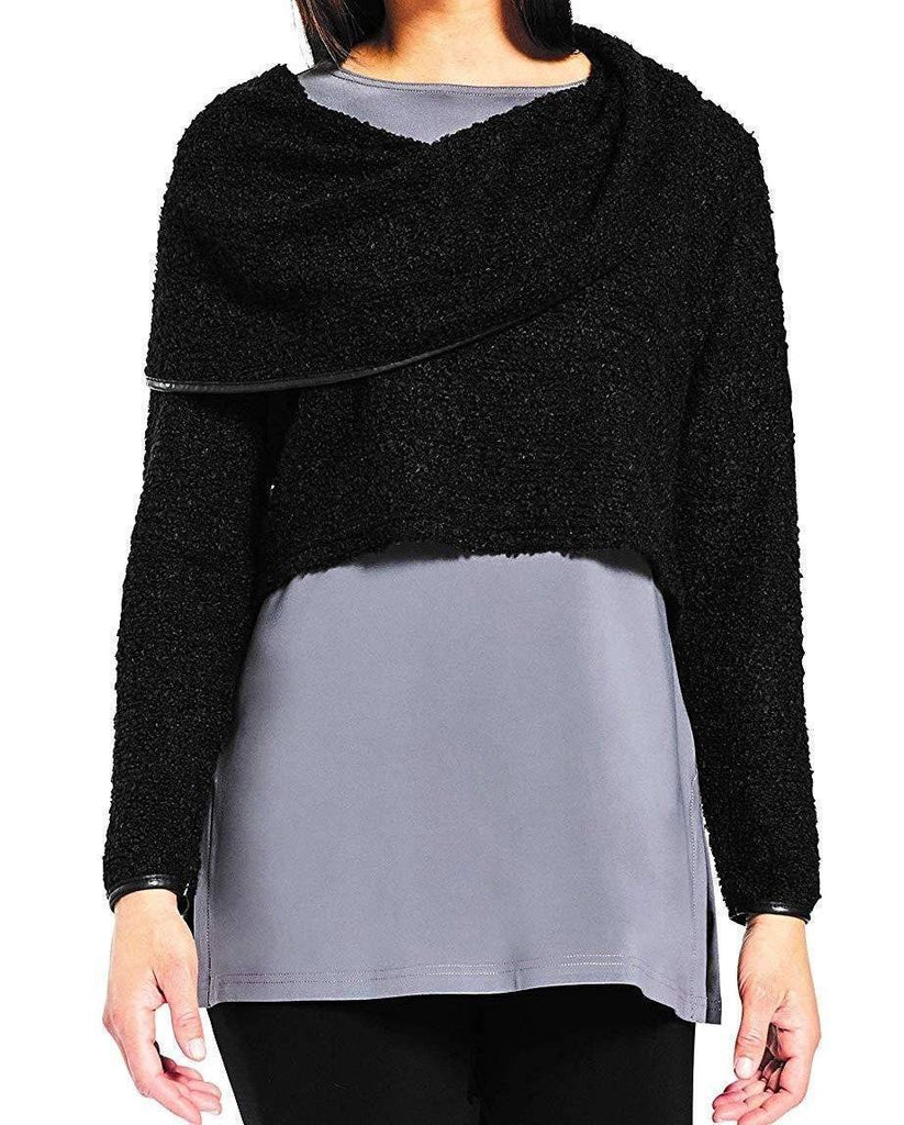 Sympli Womens Frame Weight Off Your Shoulder Sweater - A Dream Fit