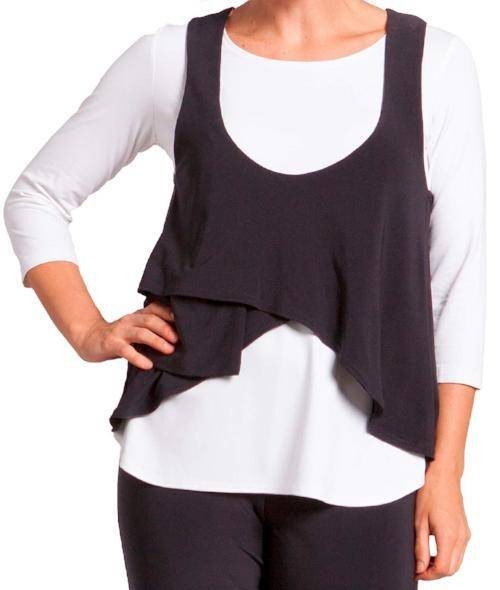 Sympli Womens Sleeveless Crop Smock - A Dream Fit