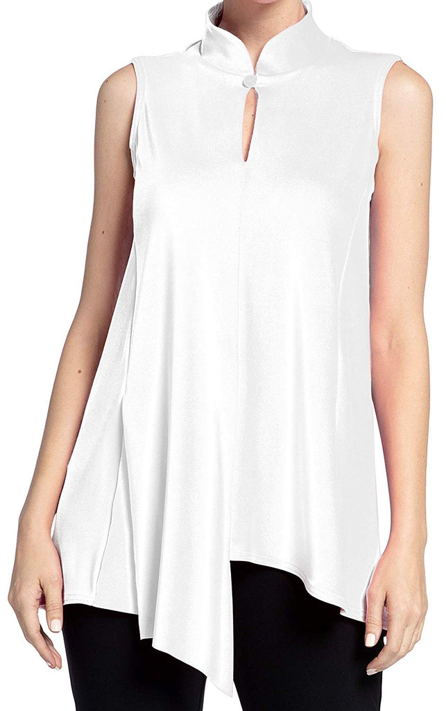 Sympli Womens Sleeveless Double Over Top Style 21142