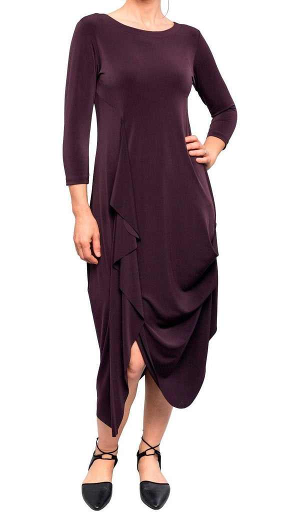 Sympli Womens Drama Dress 3/4 Sleeves - A Dream Fit