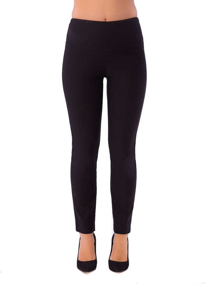 UP! Womens Flatten and Flatter Slim Ankle Pants Illusion Waistband - a-dream-fit.myshopify.com