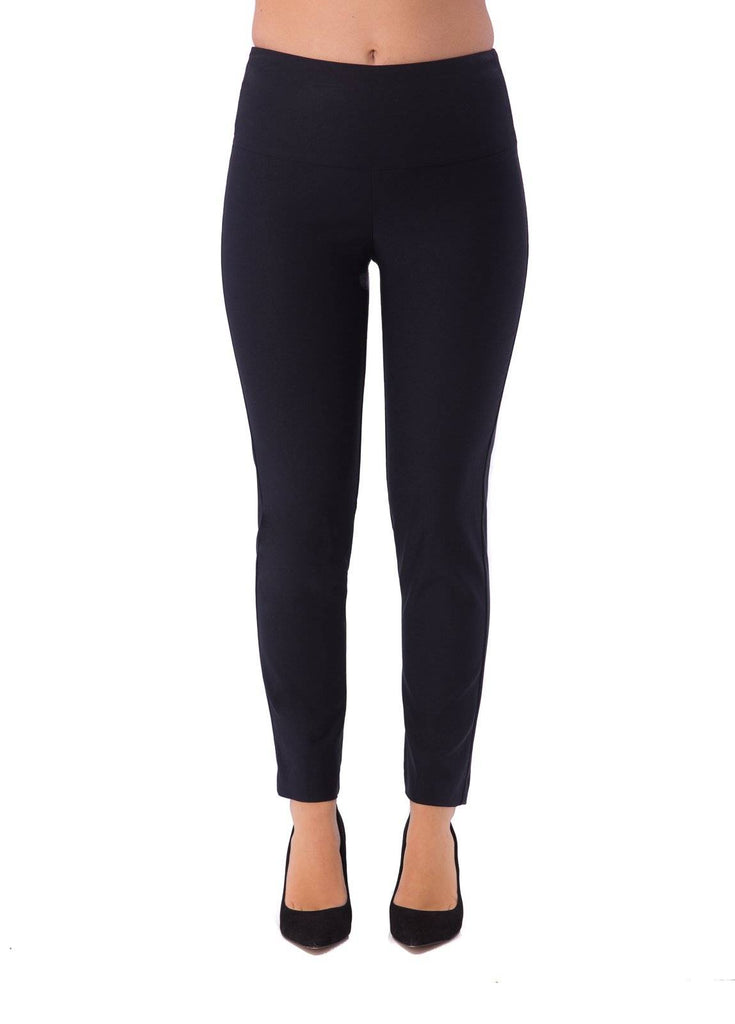 UP! Womens Flatten and Flatter Slim Ankle Pants Illusion Waistband - A Dream Fit