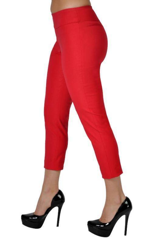 UP! Women's Flatten & Flatter Slim Capri Pants, Techno, 4 Colors