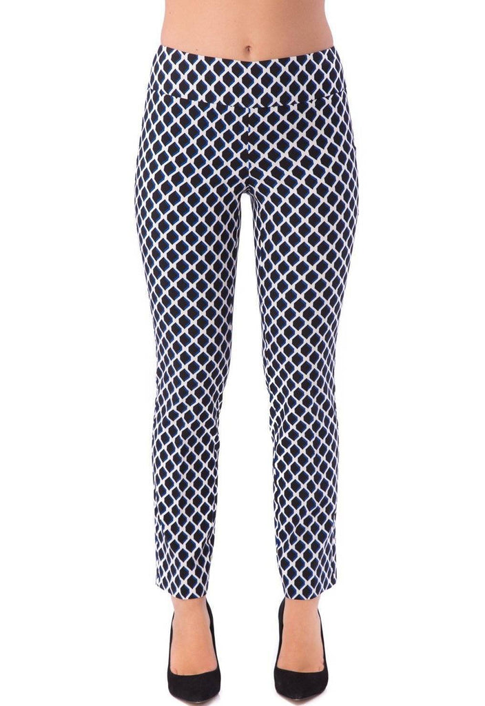 UP! Flatten and Flatter Womens Slim Ankle Pants Color Tory Blue - a-dream-fit.myshopify.com