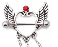 Angel Wing Heart Nipple Chain Set-16g-14g-12g Piercing Jewelry