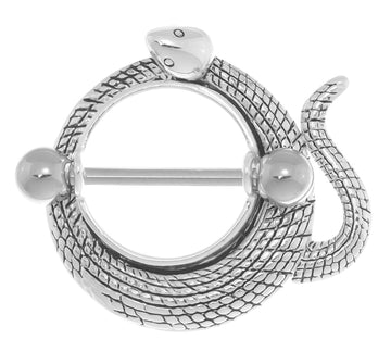 Coiled Snake Nipple Shield 16g-14g-12g Piercing Jewelry