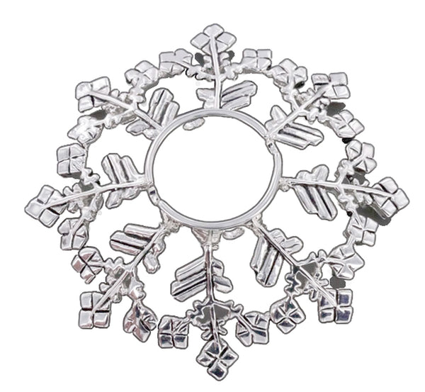 Snowflake Nipple Ring 16g-14g-12g-10g Winter Piercing Jewelry