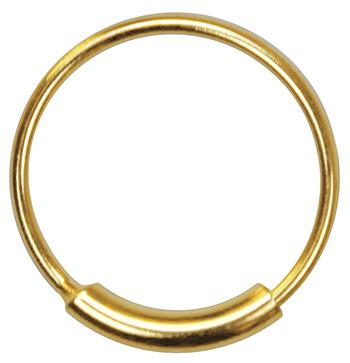 Pack of 3 Gold Color Endless Nose Piercing Hoop 22g Seamless Ring