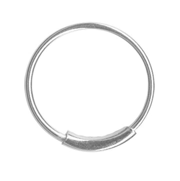 Silver Endless Hoop-22 gauge Cartilage Earring-Tragus Earring-Nose Ring  Hoop Body Jewelry Size:1/4-