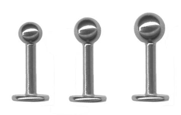20 gauge Triple Forward Helix Set of 3 Steel Ball Flat Back Earrings