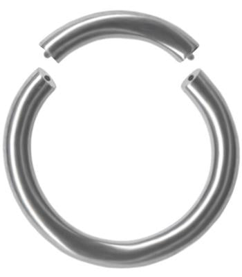 Gold Color Solid Titanium Segment Ring 14g Piercing Hoop