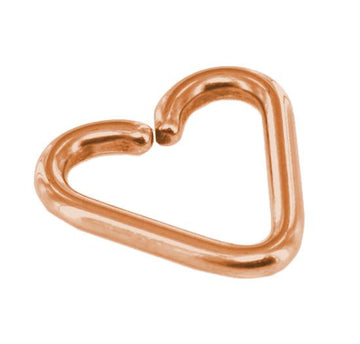 Imitation Rose Gold Heart Daith Piercing Earring 18g Twist Open Steel Seamless Ring
