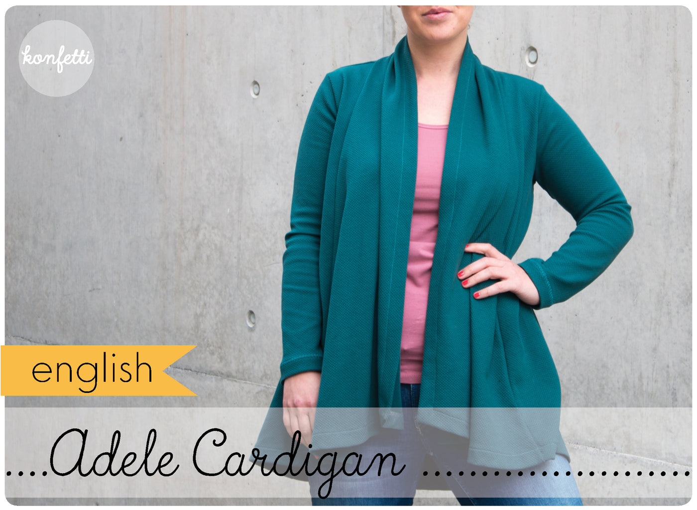 Adele - sewing pattern for an cardigan by Konfetti Patterns