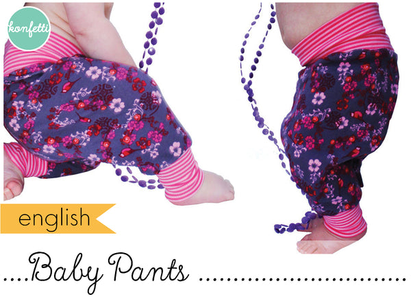 Baby Pants oder harem pants sewing patterns by Konfetti Patterns