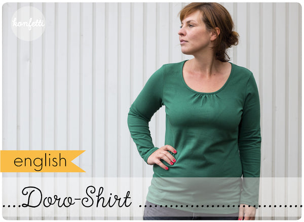 Shirt with gathers sewing pattern by Konfetti Patterns