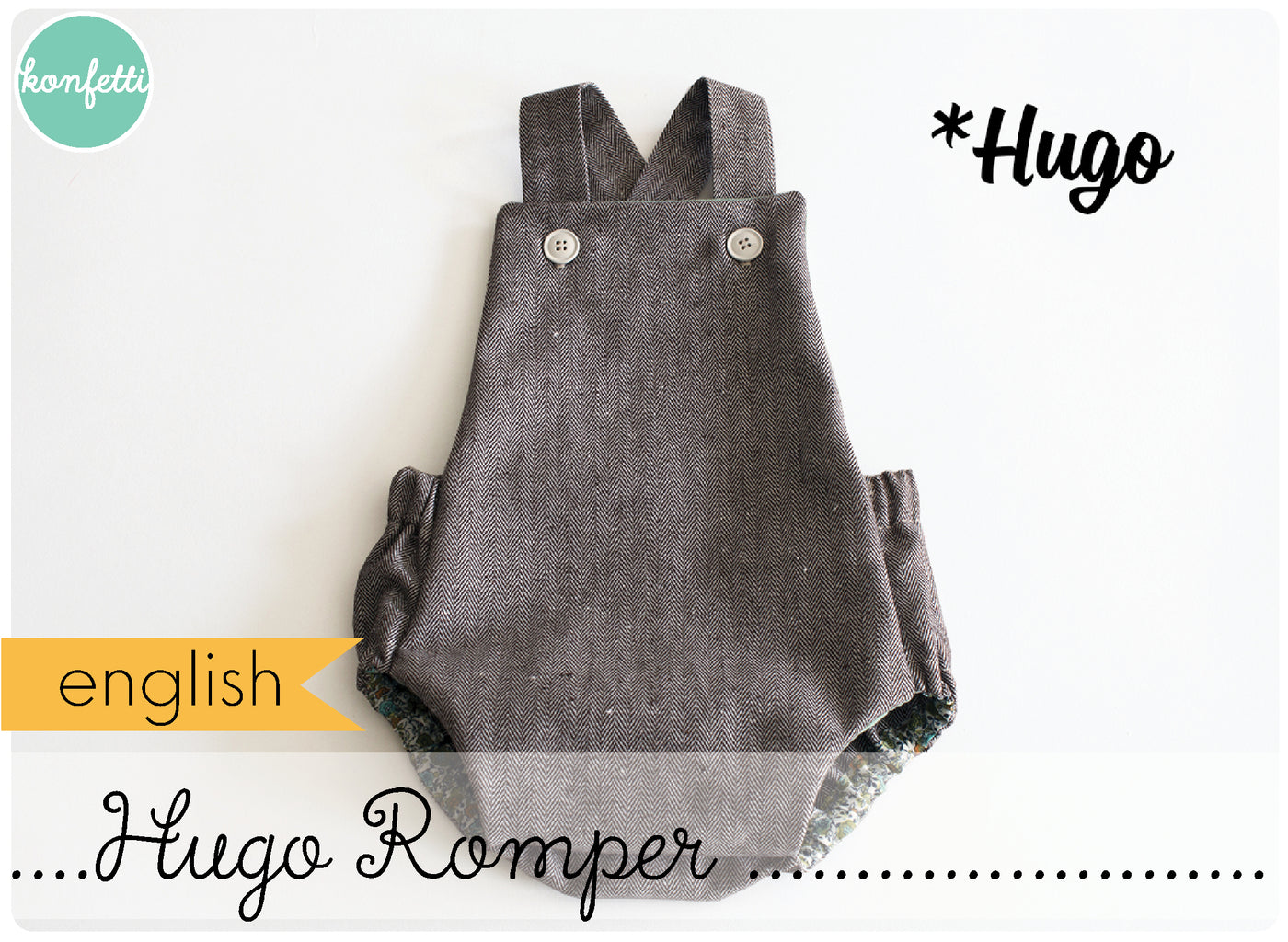 Hugo - Romper for babies (english)