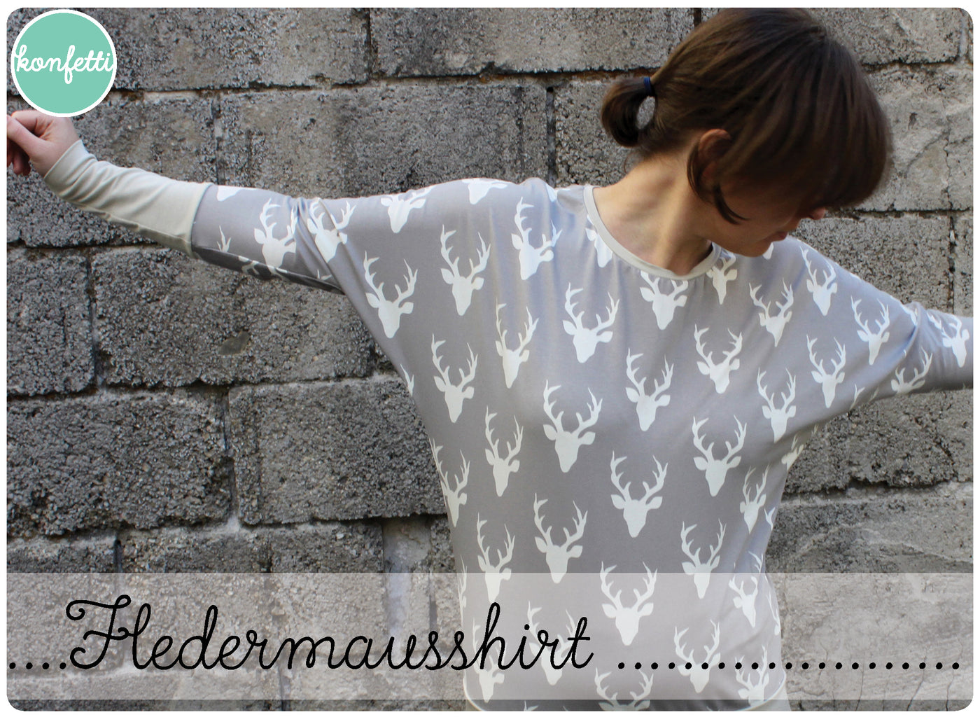 Fledermausshirt Konfetti Patterns