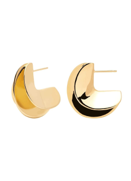 Handmade 18k Gold Plated Contemporary Stud Earrings