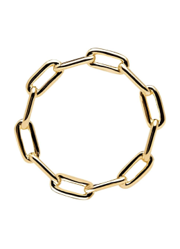 Handmade Minimal 18k Gold Plated Chain Link Ring
