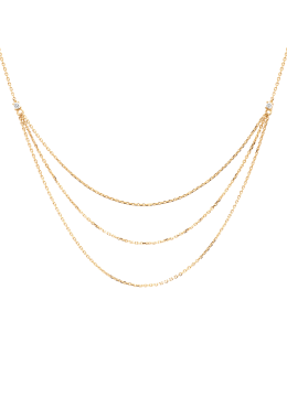 Handmade Layered 18k Gold Plated Chain Necklace