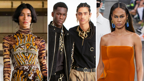 Men and women wearing chain link jewelry