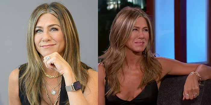 Jennifer Aniston spotted wearing chain link jewelry back-to-back at recent events