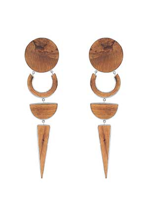 Neti Neti Ash Wood OCDV Earrings
