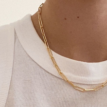Load image into Gallery viewer, Minimal Paperclip Chain Link Necklace