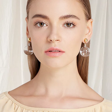 Load image into Gallery viewer, 14K Gold Plated Menorca Drop Earrings
