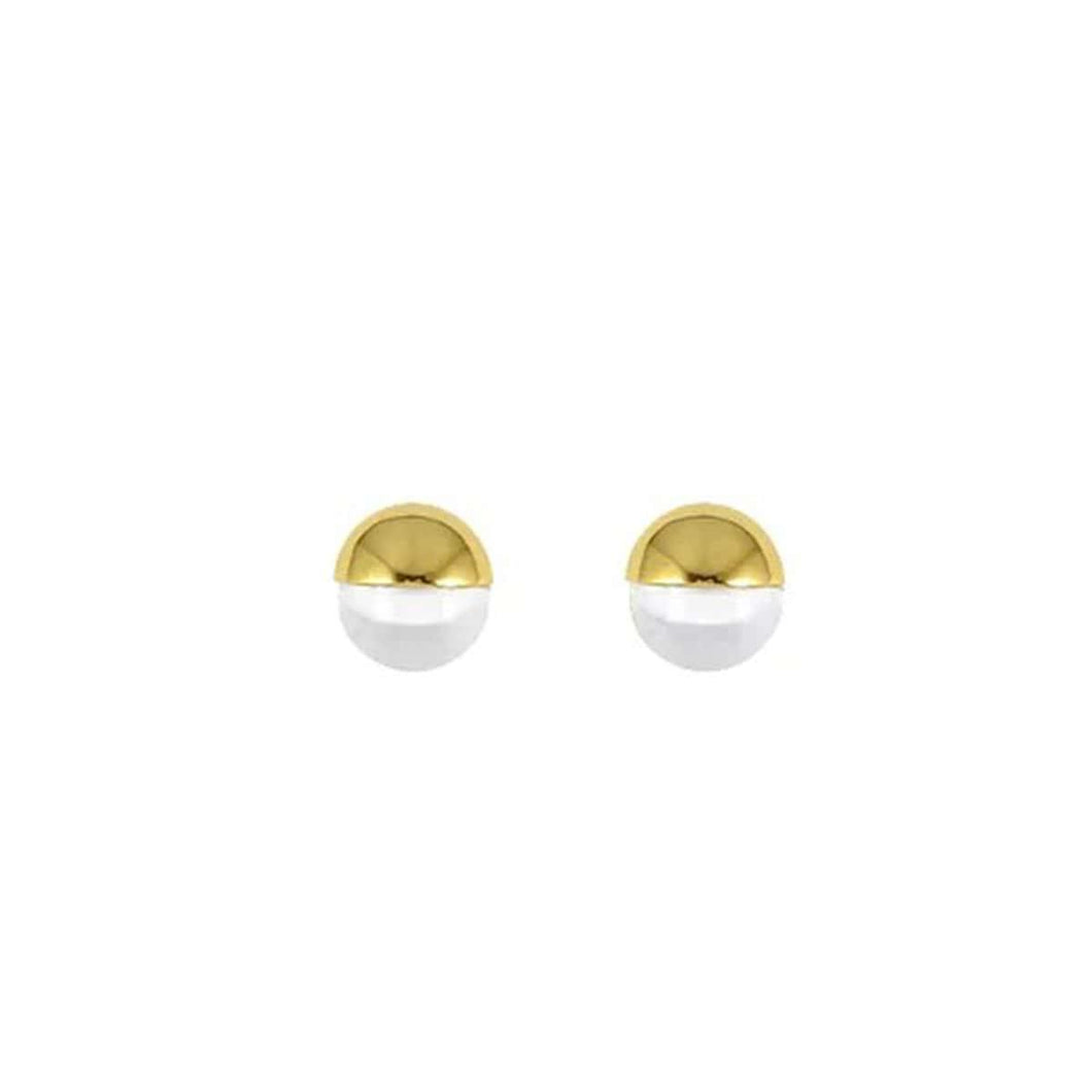 Gold Plated Glass Stud Earrings