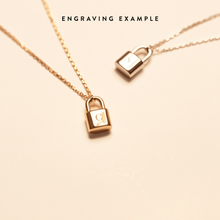 Load image into Gallery viewer, Handmade Bond Gold Lock Pendant Necklace
