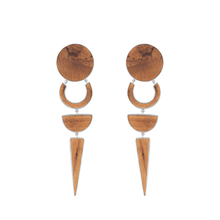 Load image into Gallery viewer, 925 Sterling Silver And Ash Wood OCDV Earrings - Tanzire Store