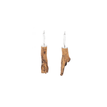 Load image into Gallery viewer, 925 Sterling Silver And Ash Wood Branch Earrings - Tanzire Store