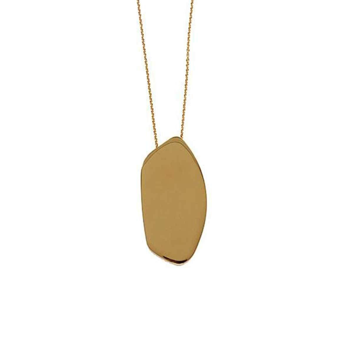 Asymmetric Chic Pendant In 18k Gold-Plating