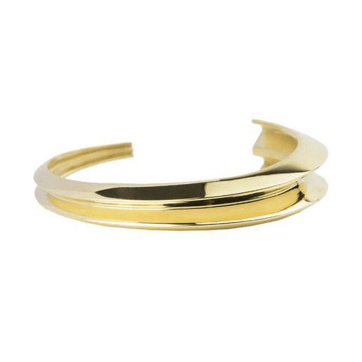 Statement-Making 18k Gold-Plated Cuff Bracelet