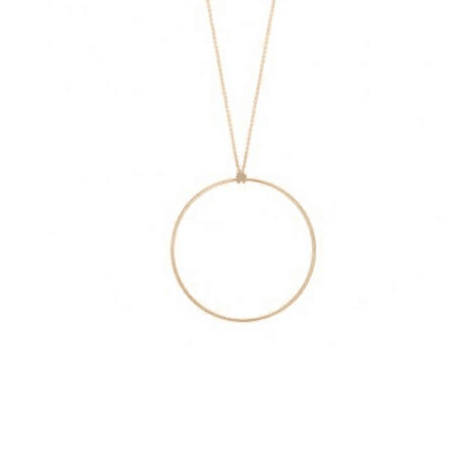 Minimal 18k Gold Plated handmade-in-spain circular pendant chain - Tanzire