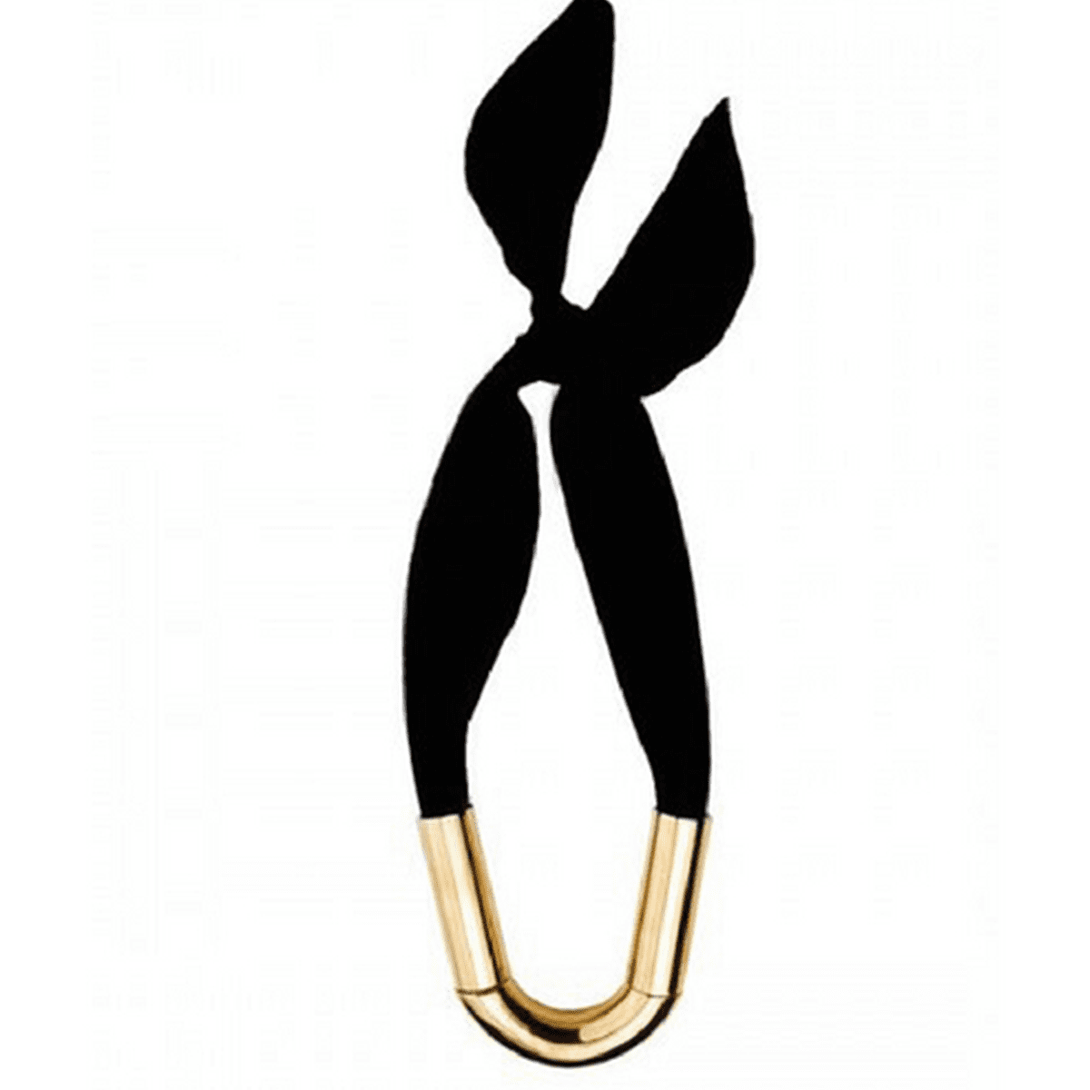 Snazzy Fabric Tie-Back 18k Gold-Plated Necklace