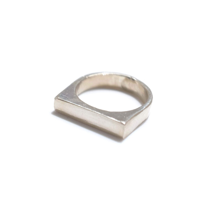 925 Sterling Silver Top Flat Ring