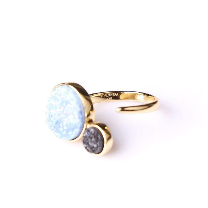 Alice Baby Blue & Small Black Orbit Ring - Tanzire Store