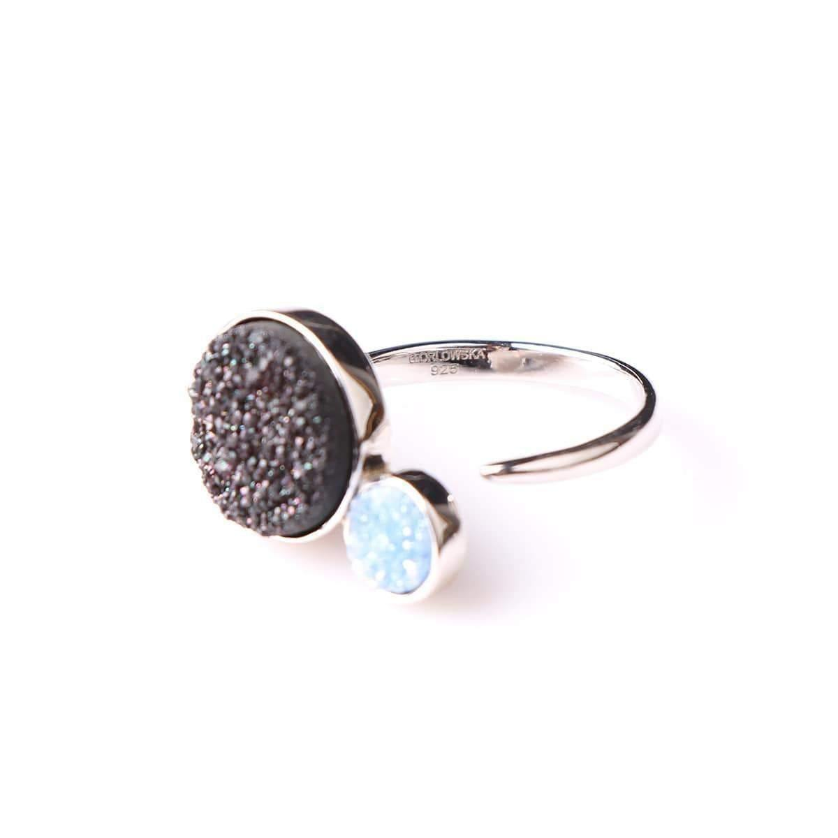 Alice Black & Small Baby Blue Orbit Ring - Tanzire Store