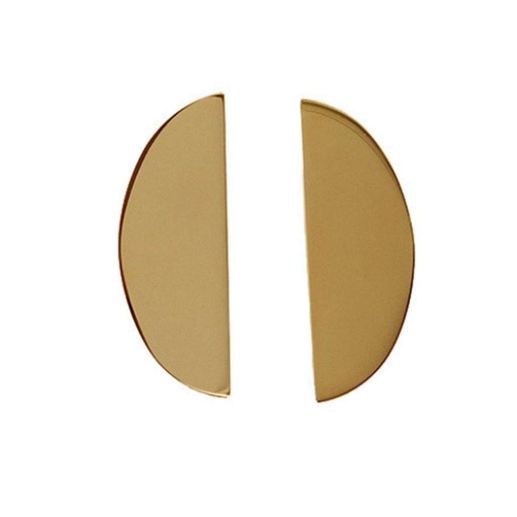 18K Gold Plated Statement Semi-Circle Handmade Earrings for Women - Tanzire