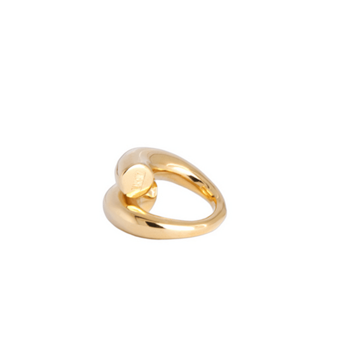 18k Gold-Plated Handmade Spiral Statement Ring for Women - Tanzire